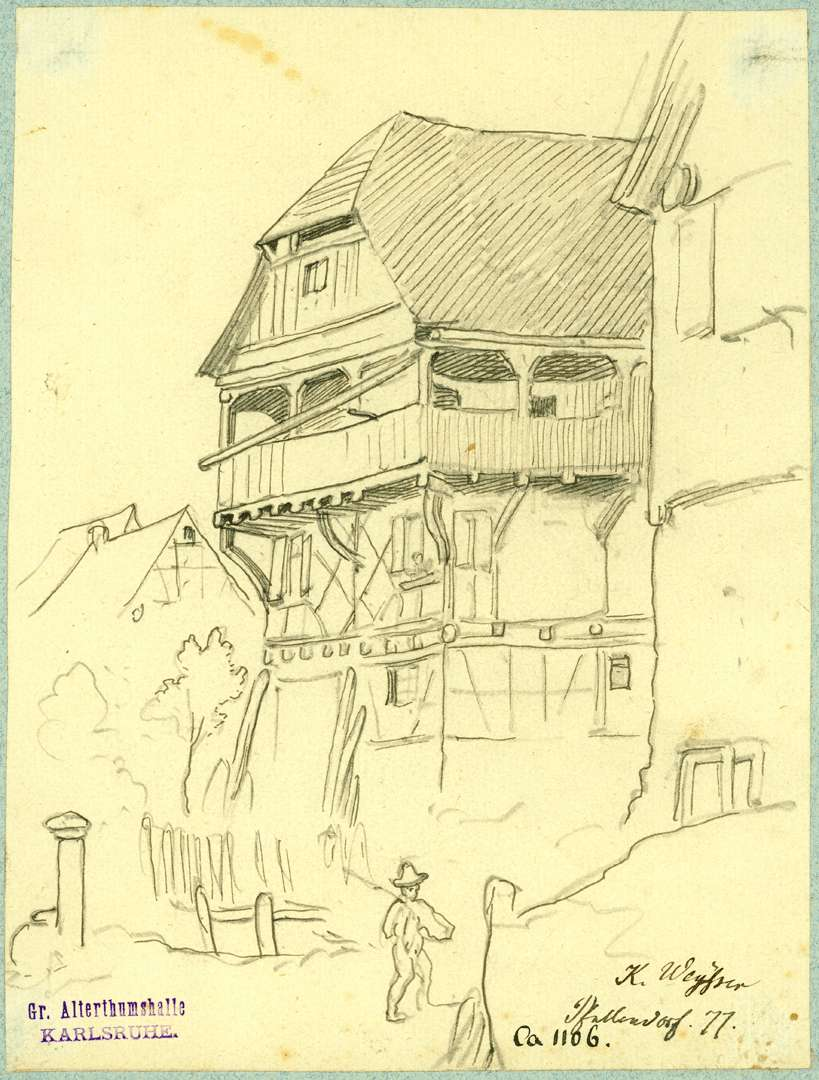 Pfullendorf Fachwerkhaus mit Krüppelwalmdach, Bild 1