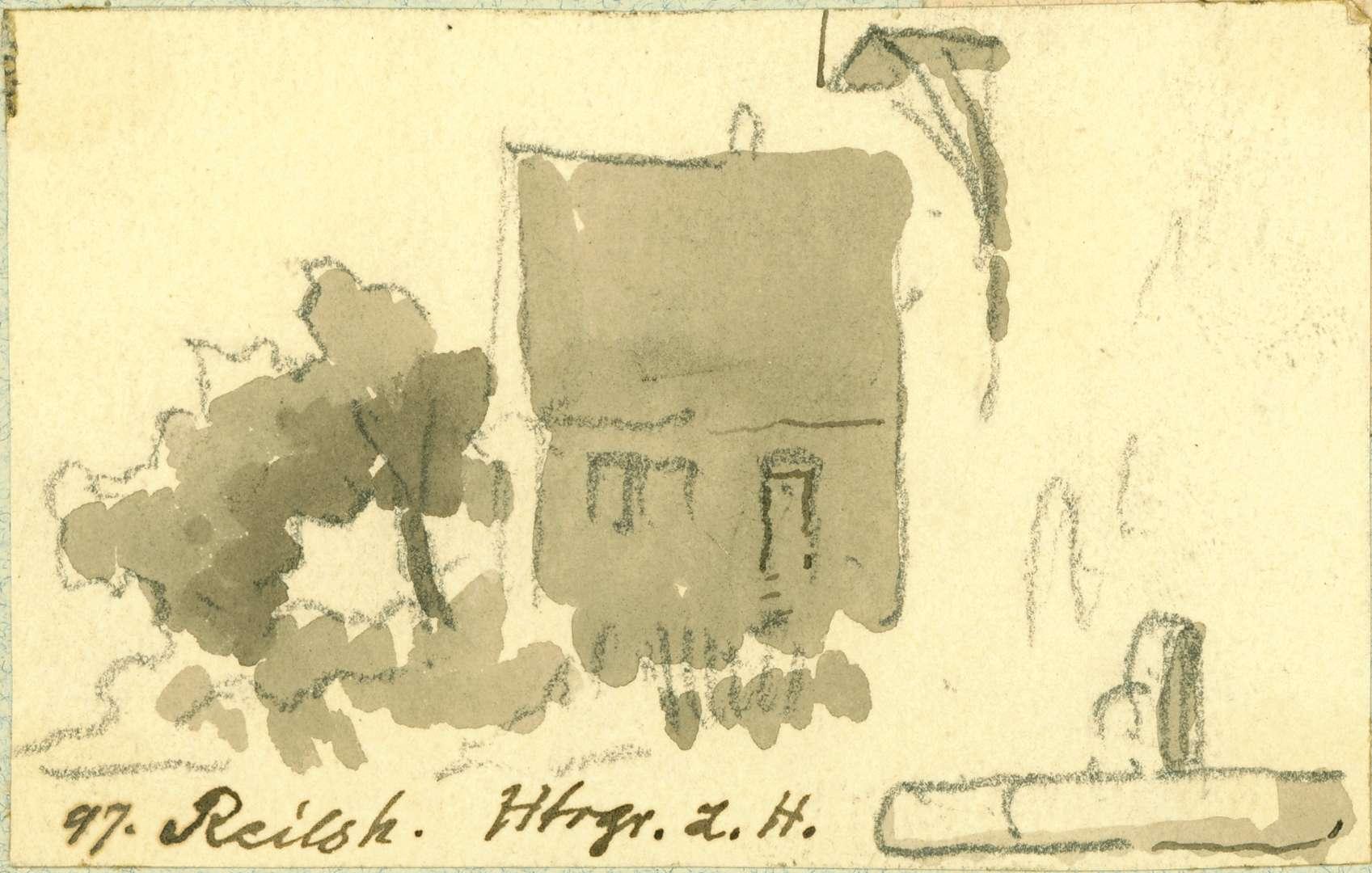 Reilsheim Gebäudeecke mit Brunnen, Bild 1