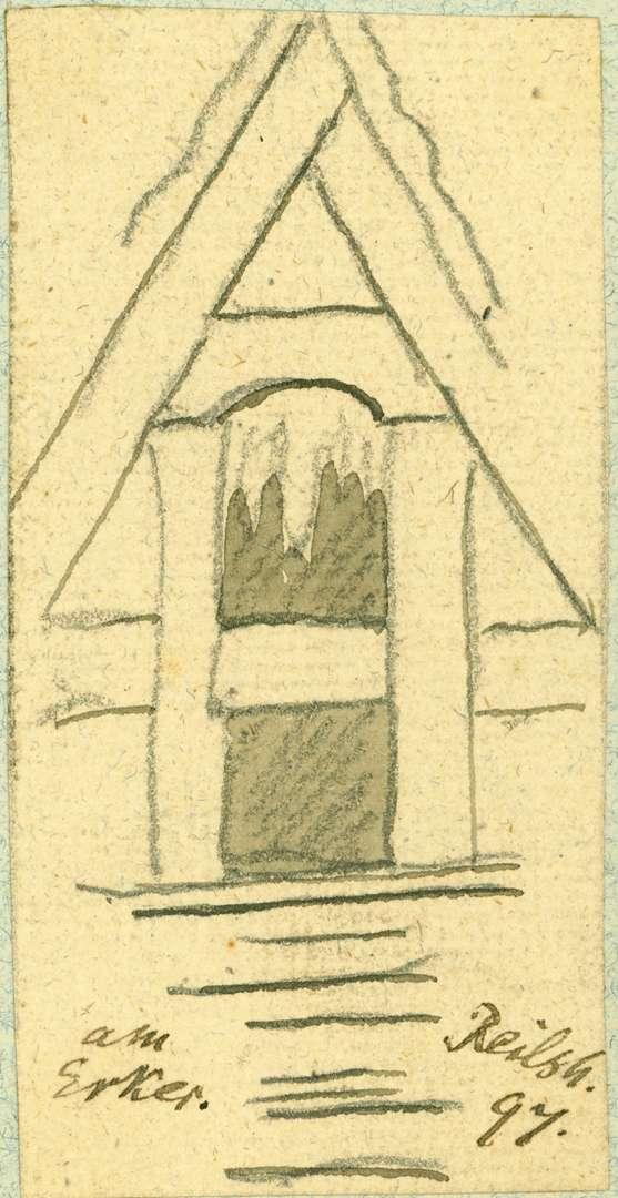 Reilsheim Giebelfassade vom Erker, Bild 1