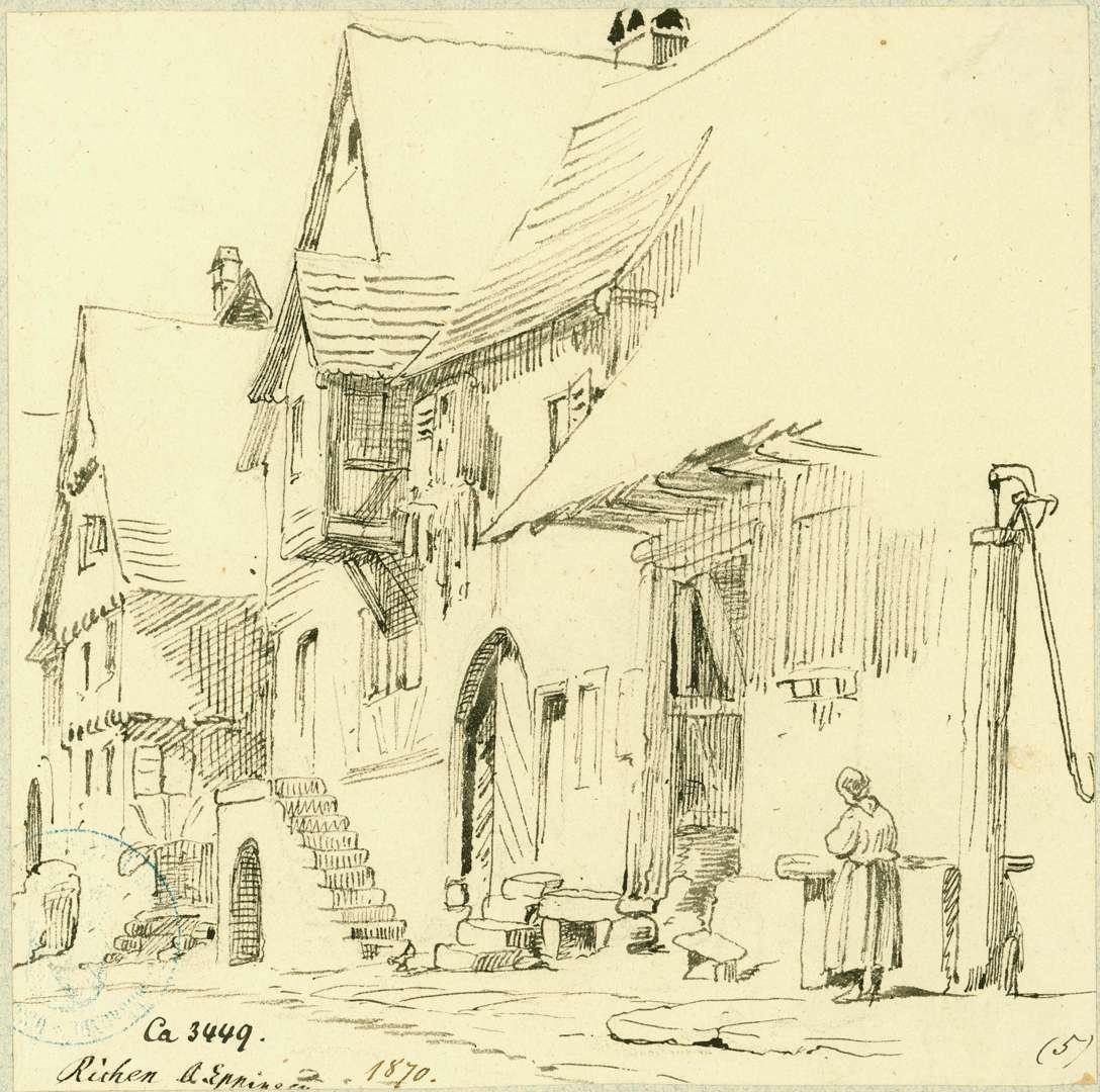 Richen Straße mit Fachwerkhäusern, Bild 1