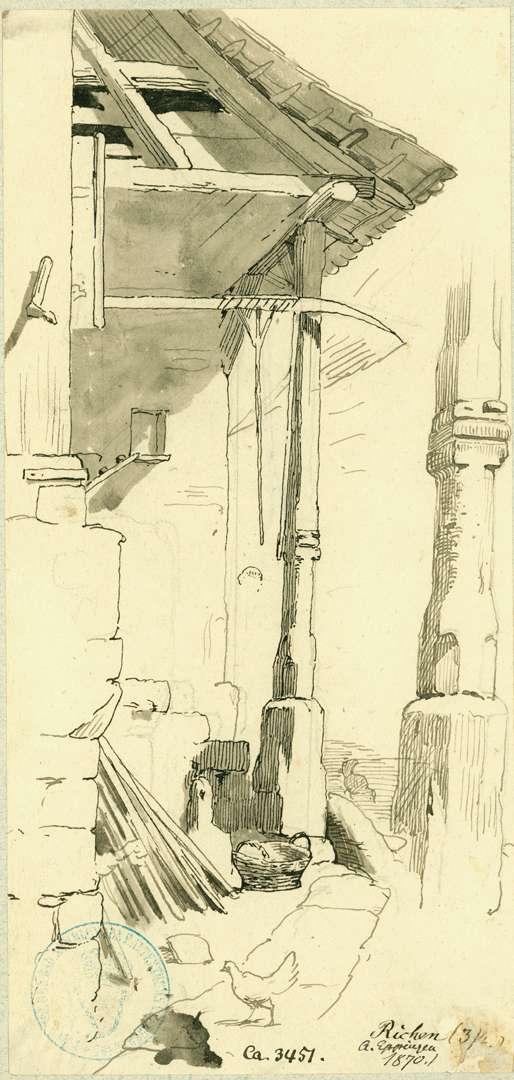 Richen Dach von Säulen getragen, Bild 1