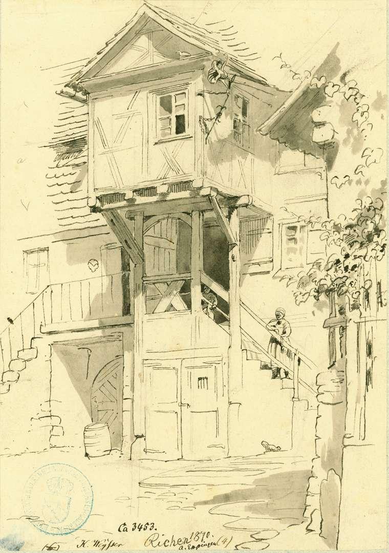Richen Fachwerkhaus mit Vorbau, Hintergasse Nr. 20, Bild 1