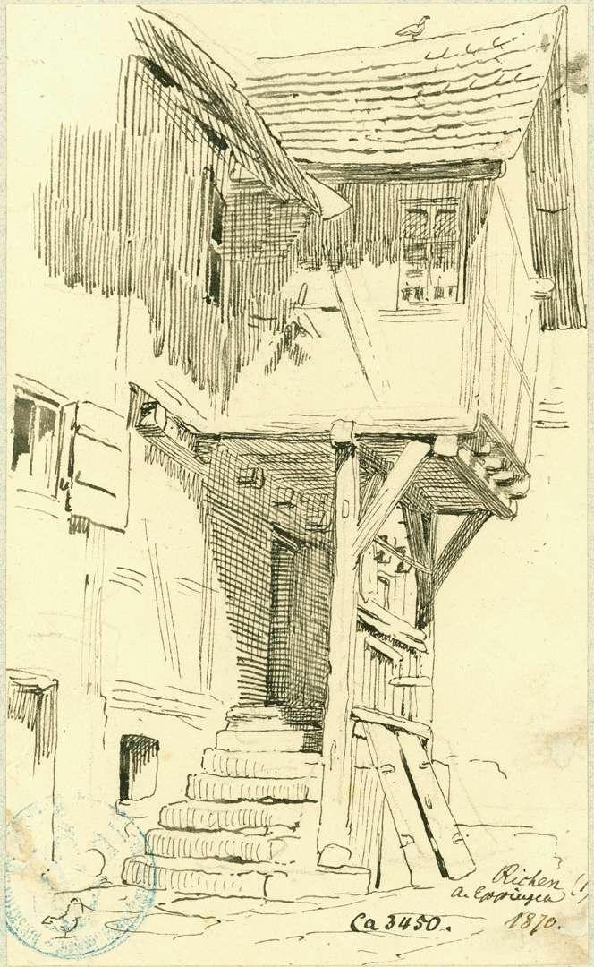 Richen Fachwerkhaus mit Vorbau, Bild 1