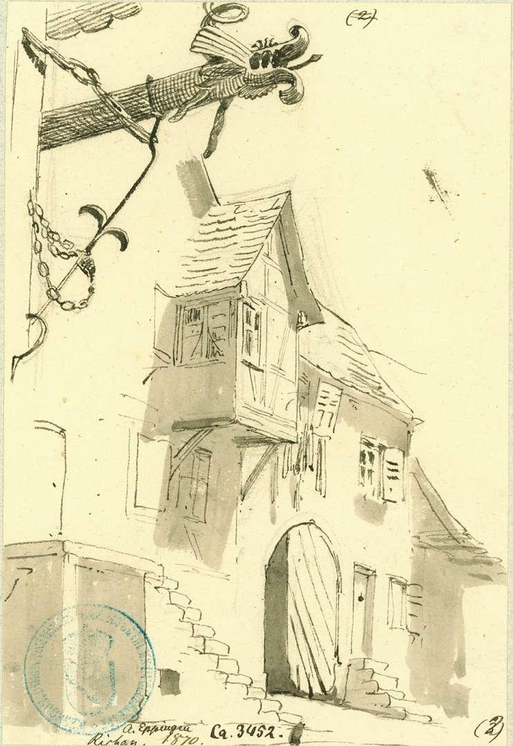 Richen Fachwerkhaus mit Freitreppe und Erker, Bild 1