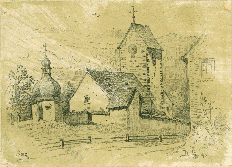 Saig Pfarrkirche aus südwestlicher Richtung gesehen, Bild 1