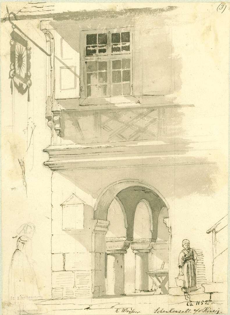 Schenkenzell Blick in die Arkaden Gasthaus zur Sonne, Bild 1
