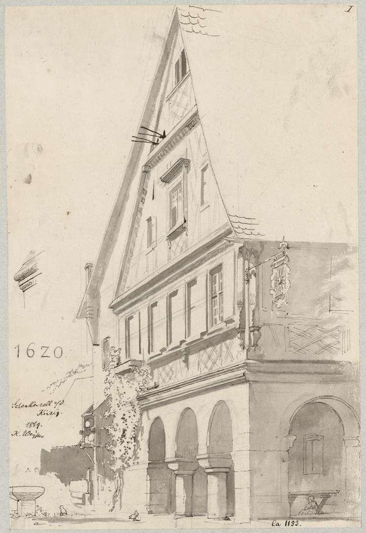 Schenkenzell Giebelfassade Gasthaus zur Sonne, Bild 1