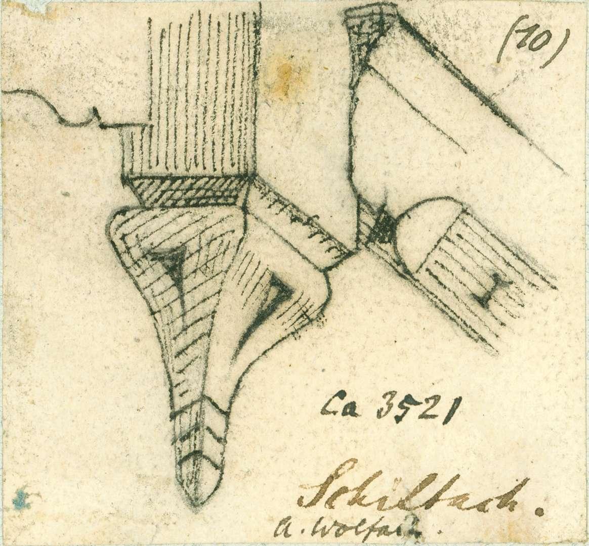 Schiltach Verzierte Knagge Gasthof zum Adler, Bild 1