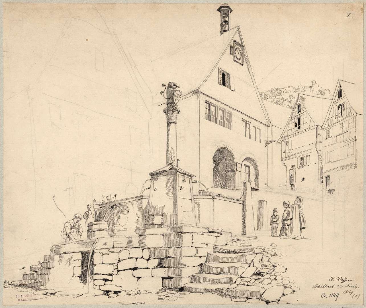 Schiltach Rathaus mit Löwenbrunnen, Bild 1