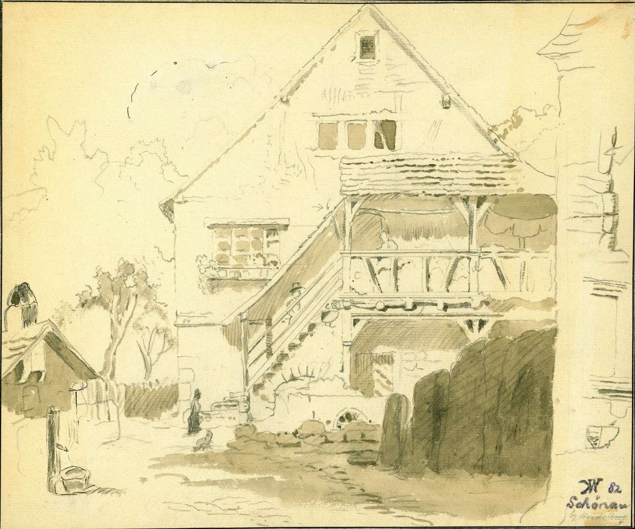 Schönau Fachwerkhaus mit überdachtem Treppenaufgang, Bild 1
