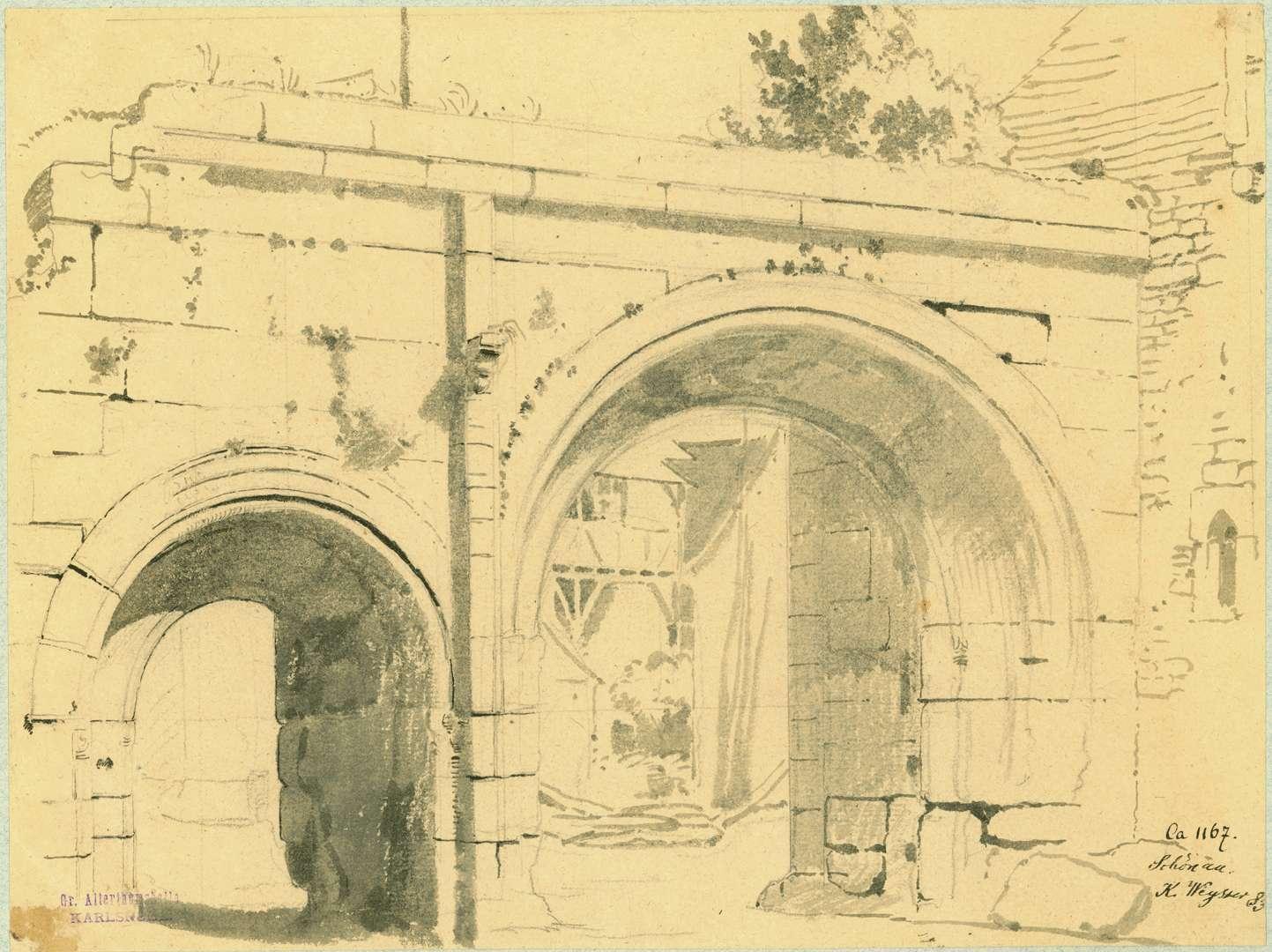 Schönau Feldseitige Ansicht Tor Zisterzienserkloster, Bild 1