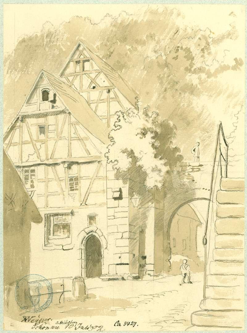 Schönau Klostertor mit angrenzenden Fachwerkhäusern, Bild 1