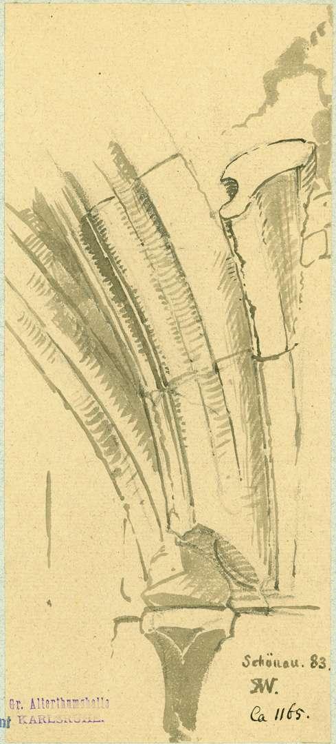 Schönau Bogenansatz gotischer Durchgang, Bild 1