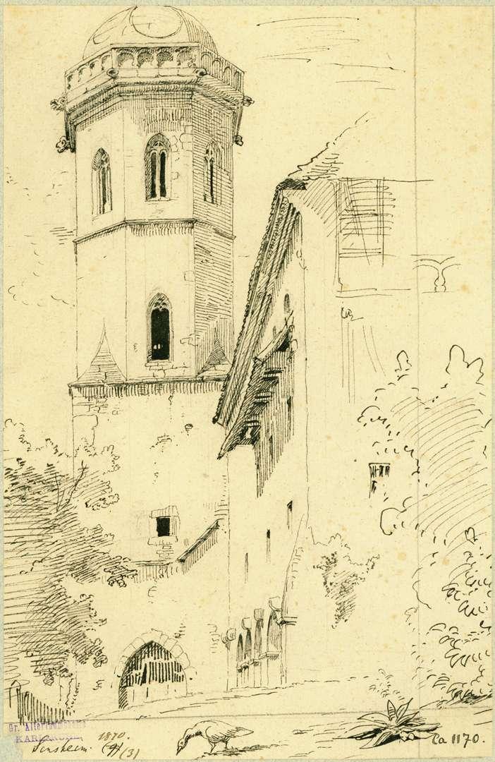 Sinsheim Südfront Stiftskirche, Bild 1