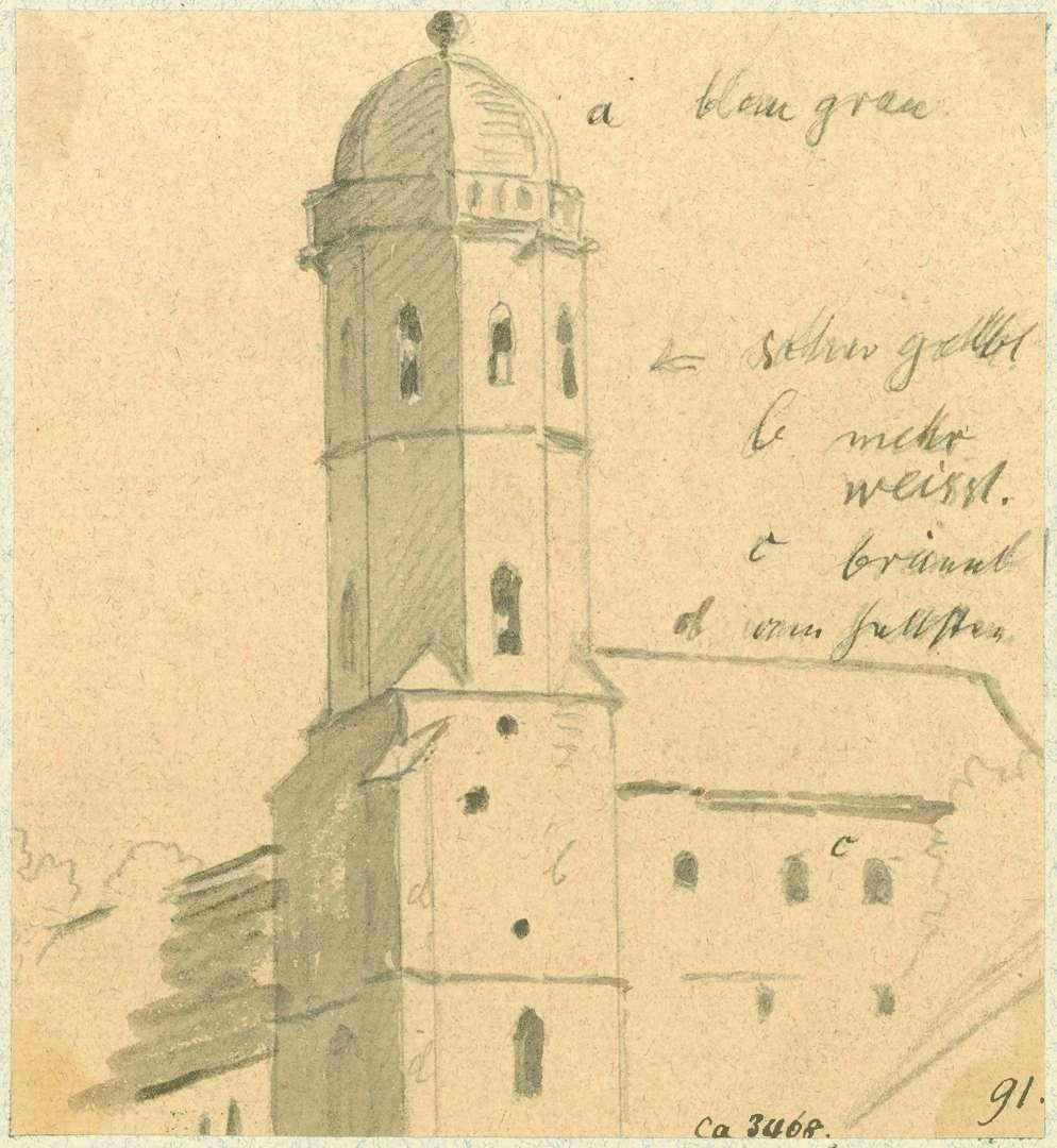 Sinsheim Stiftskirche von Westen, Bild 1
