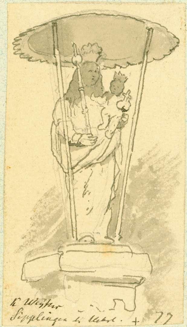 Sipplingen Madonna unter einem Schutzdach, Bild 1