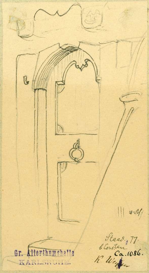 Staad Haustür mit barockem Sturz, Bild 1