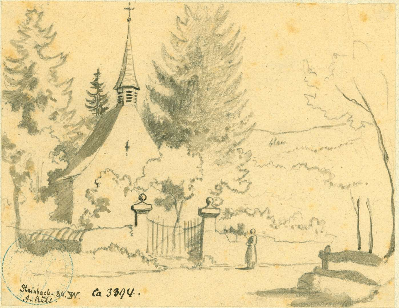 Steinbach Kapelle zwischen Bäumen, Bild 1