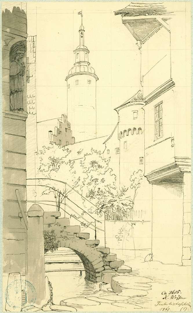 Tauberbischofsheim Durchblick zum Kurmainzischen Schloss, Bild 1