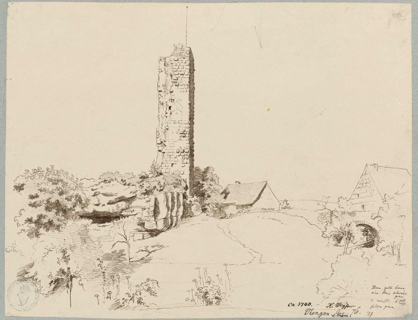 Tengen Turmruine Hinterburg, Bild 1