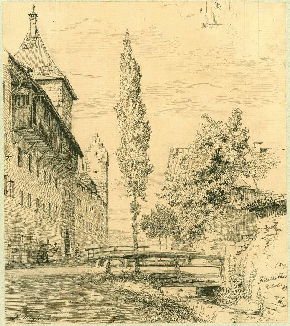 Überlingen Stadtmauer mit Fidelistor, Bild 1