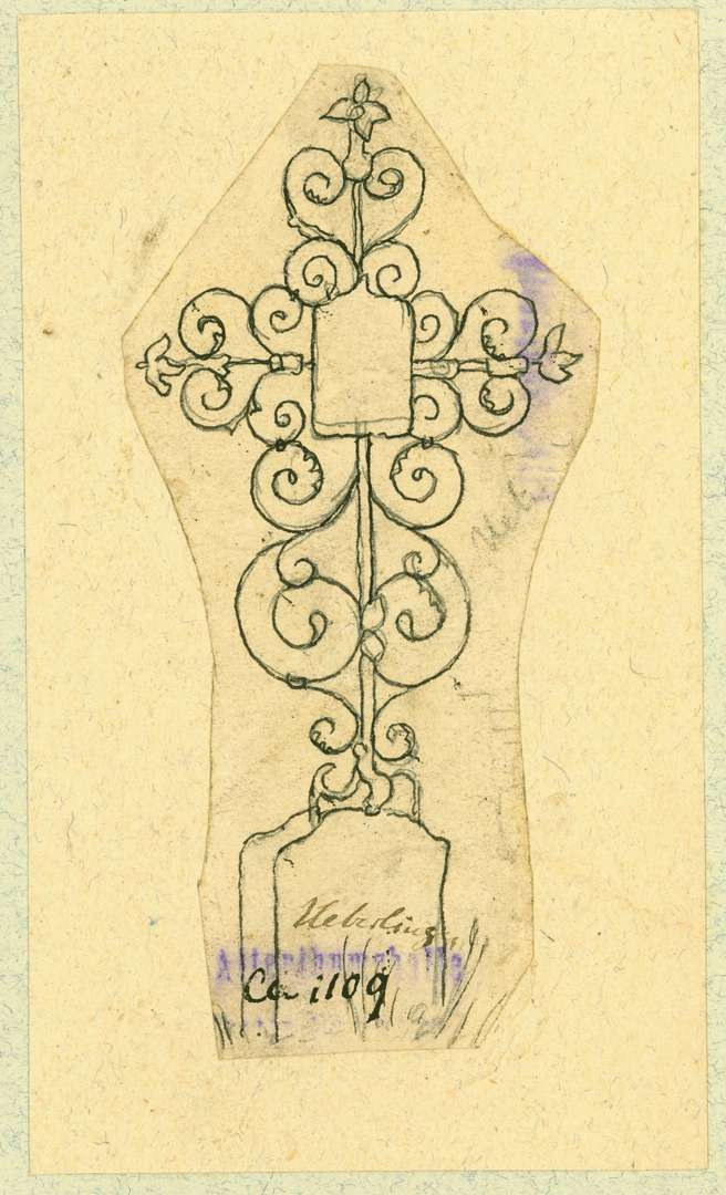 Überlingen Schmiedeeisernes Grabkreuz, Bild 1