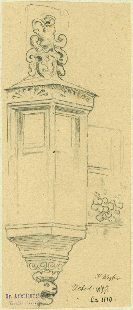 Überlingen Hauserker mit Wappenbekrönungen, Bild 1