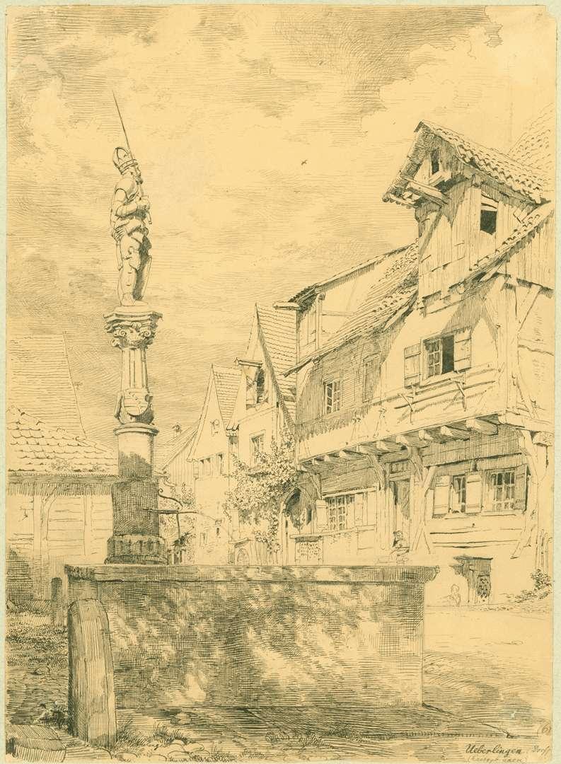 Überlingen Kaiserbrunnen Hofstatt Blaser