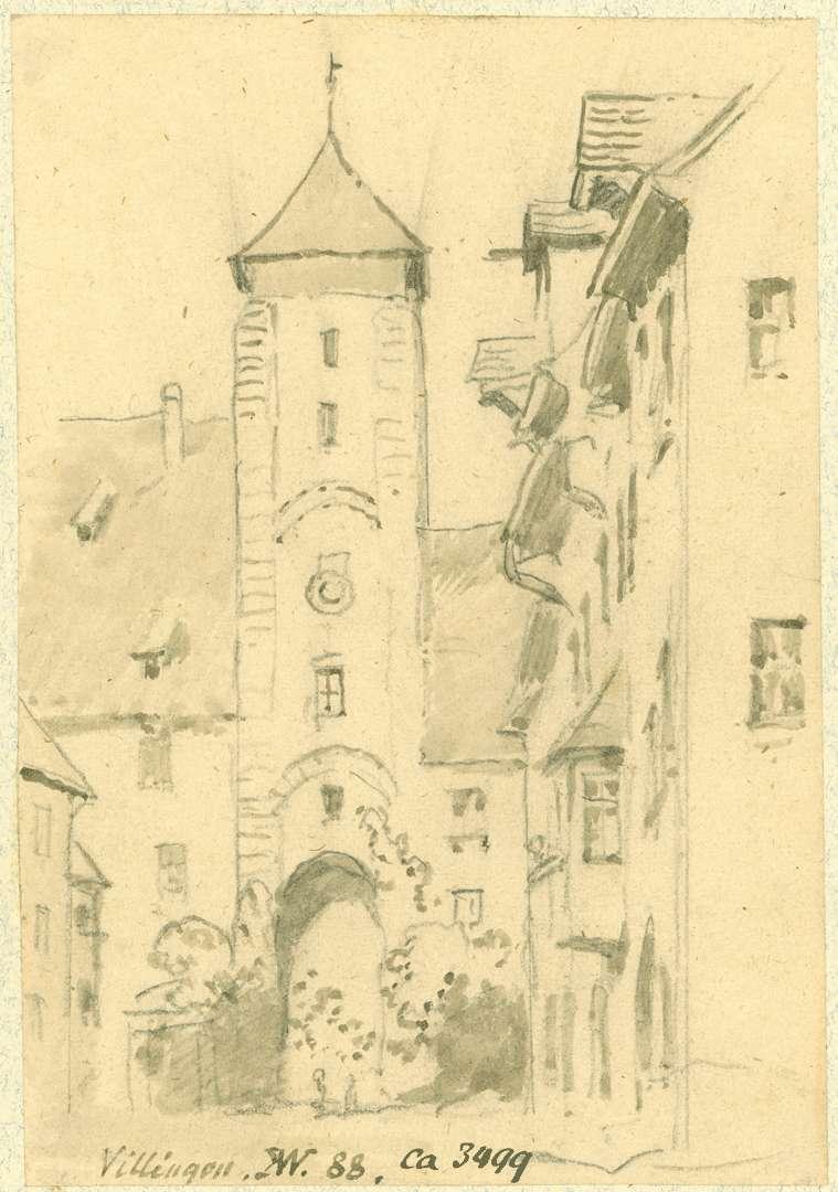 Villingen Stadtseitige Ansicht Riettor, Bild 1