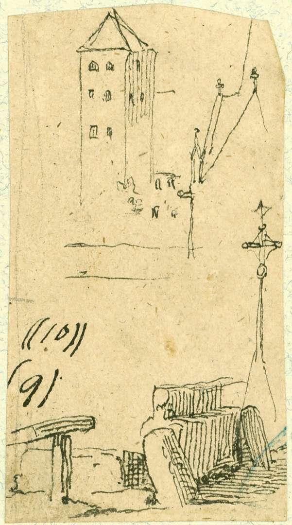 Villingen Oberes Tor mit Teilansicht Münsterturm, Bild 1