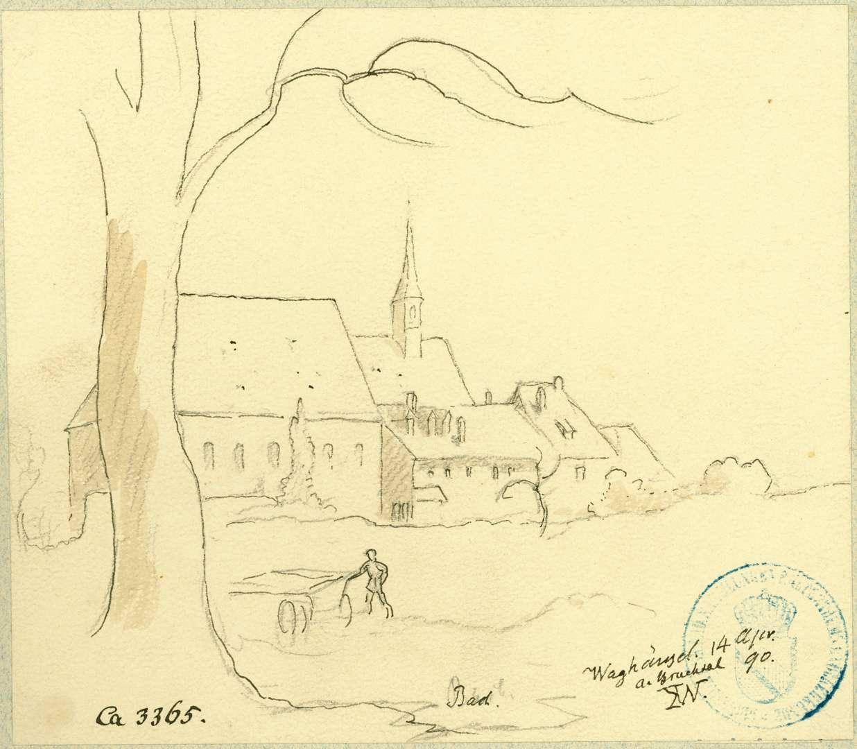 Waghäusel Klosteransicht von Süden, Bild 1