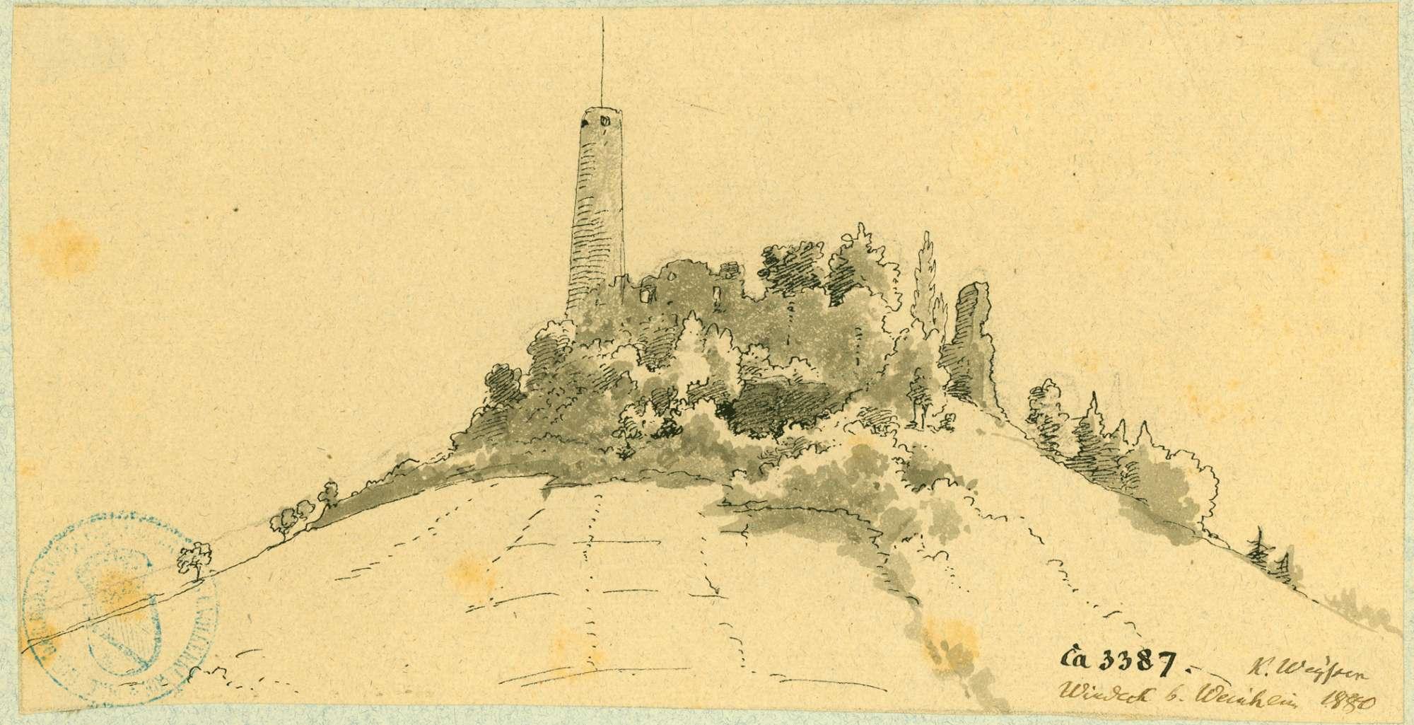 Weinheim Burg Windeck von Westen, Bild 1