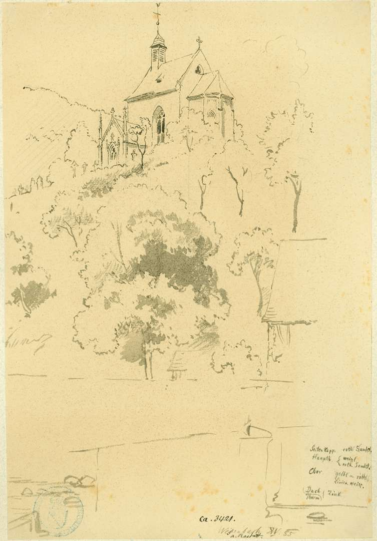 Weisenbach Blick über die Murg auf Wendelinuskapelle, Bild 1
