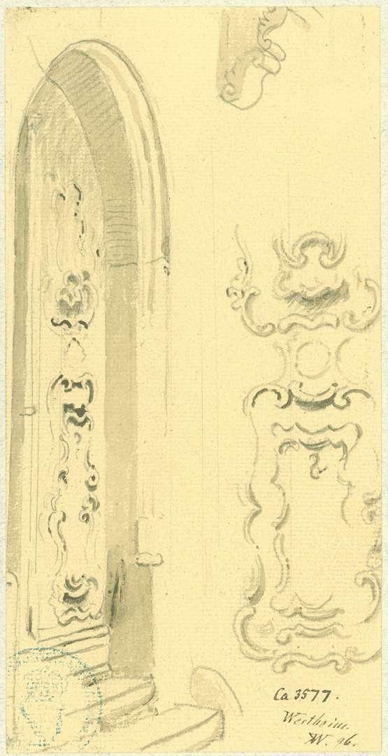 Wertheim Hauseingang mit barocker Holztür, Bild 1