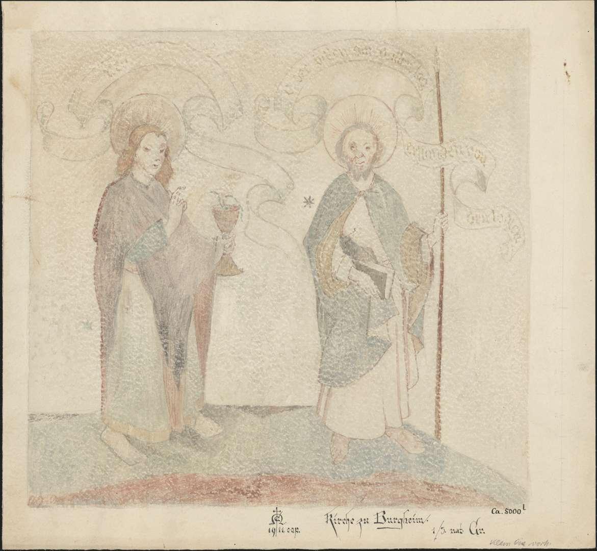 Burgheim Burgheimer Kirche Apostel Johannes und Thomas, Bild 1