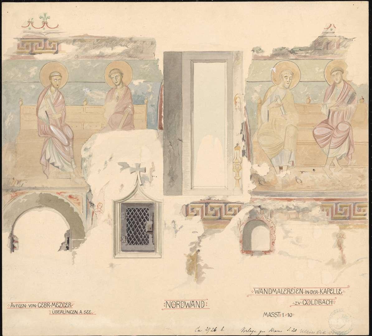 Goldbach St. Sylvester-Kapelle Apostelabbildungen auf der Nordwand des Chores, Bild 1