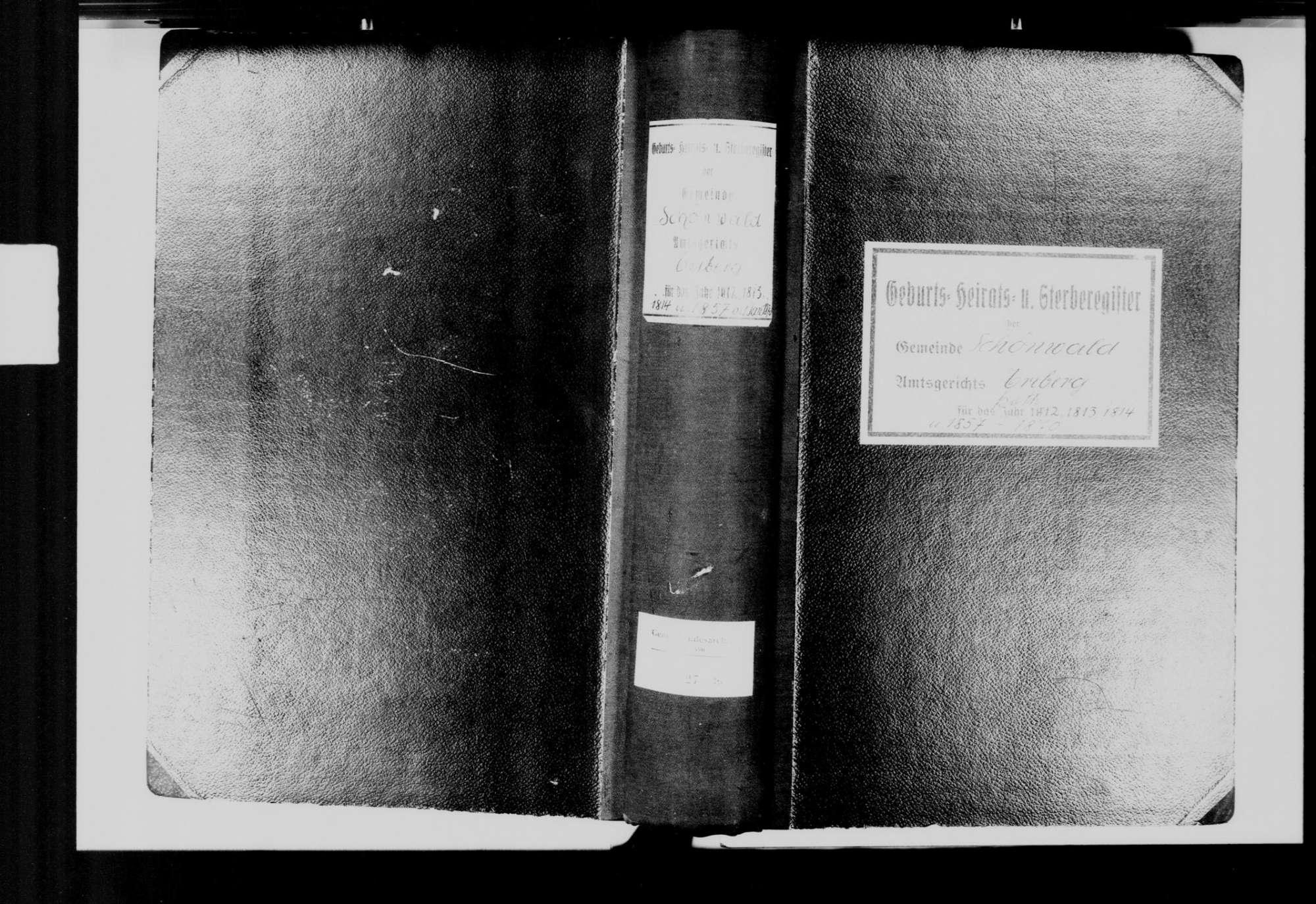 Schönwald im Schwarzwald VS; Katholische Gemeinde: Standesbuch 1812-1814, 1857-1870, Bild 3