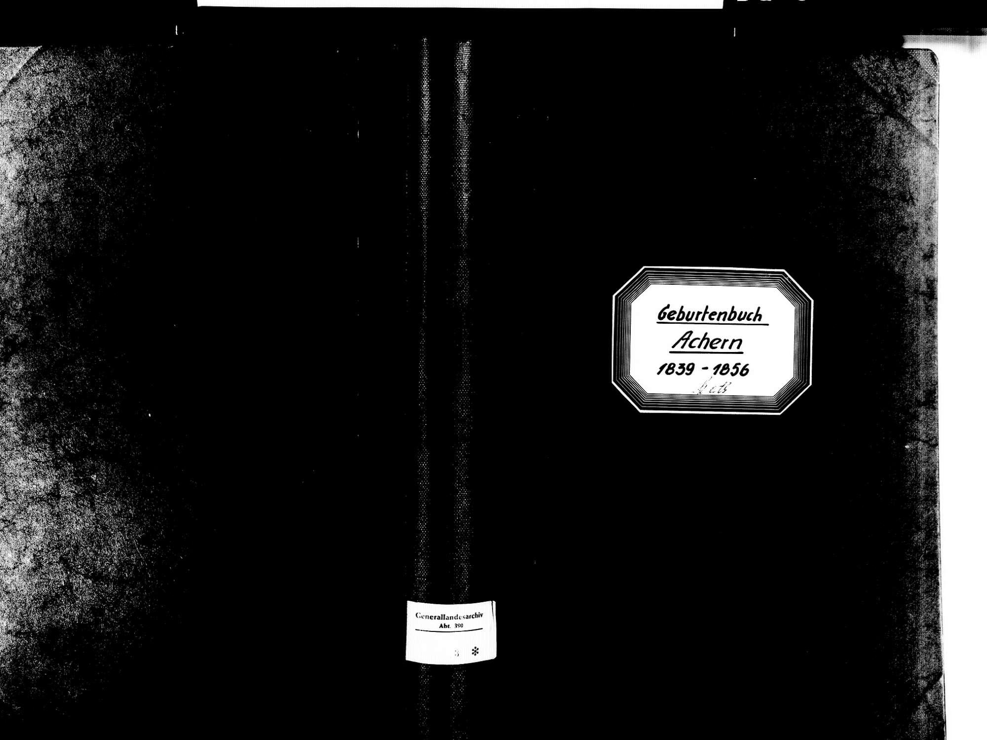 Achern OG; Katholische Gemeinde: Geburtenbuch 1839-1856, Bild 2