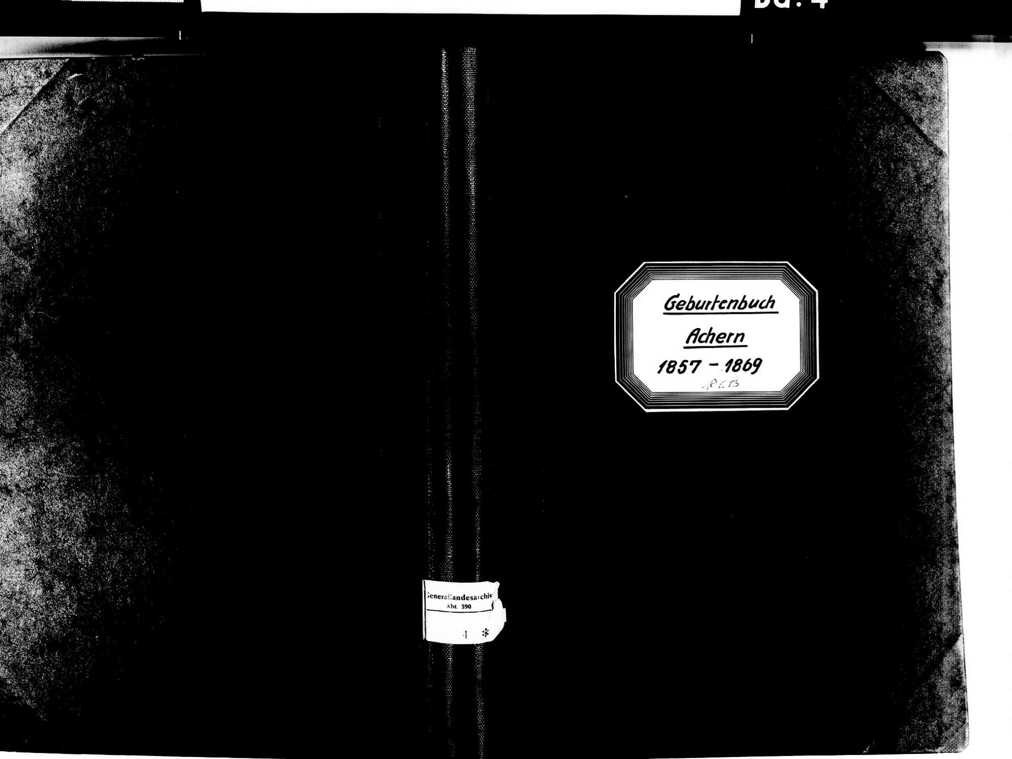 Achern OG; Katholische Gemeinde: Geburtenbuch 1857-1869, Bild 1