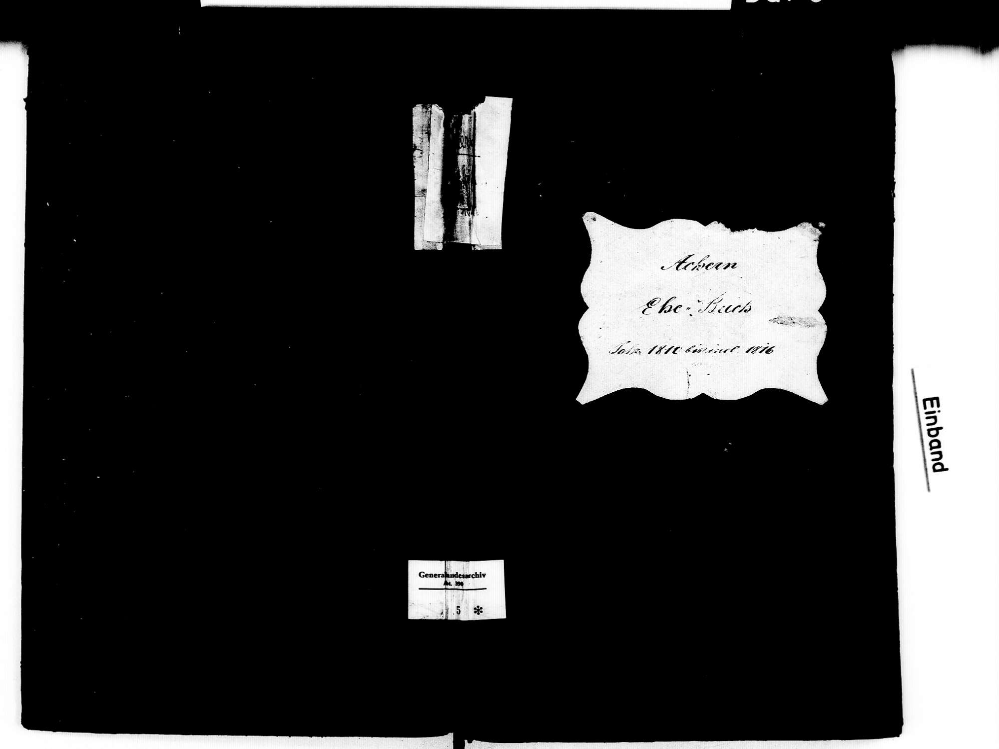 Achern OG; Katholische Gemeinde: Heiratsbuch 1810-1816, Bild 1