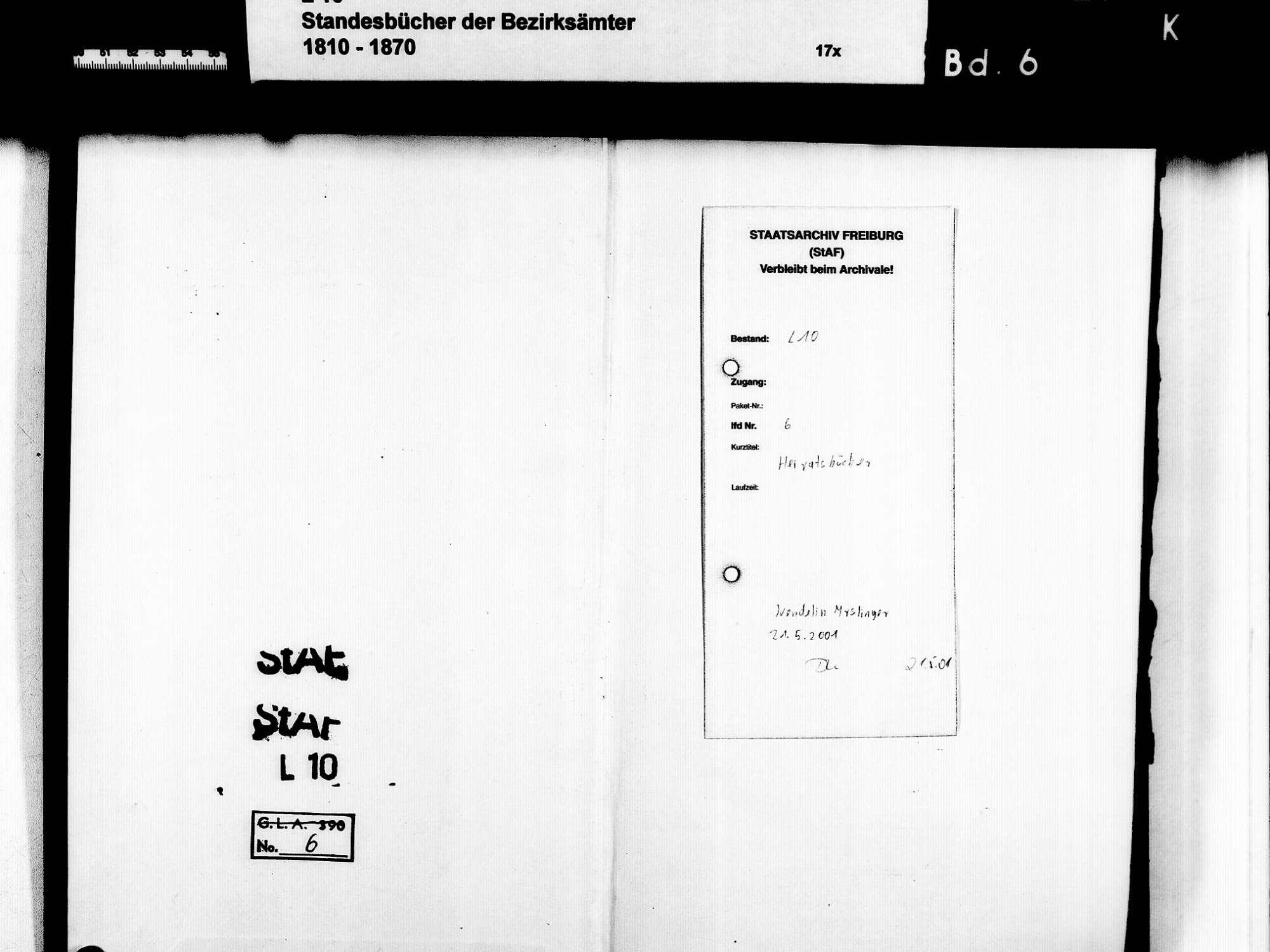 Achern OG; Katholische Gemeinde: Heiratsbuch 1817-1856, Bild 3