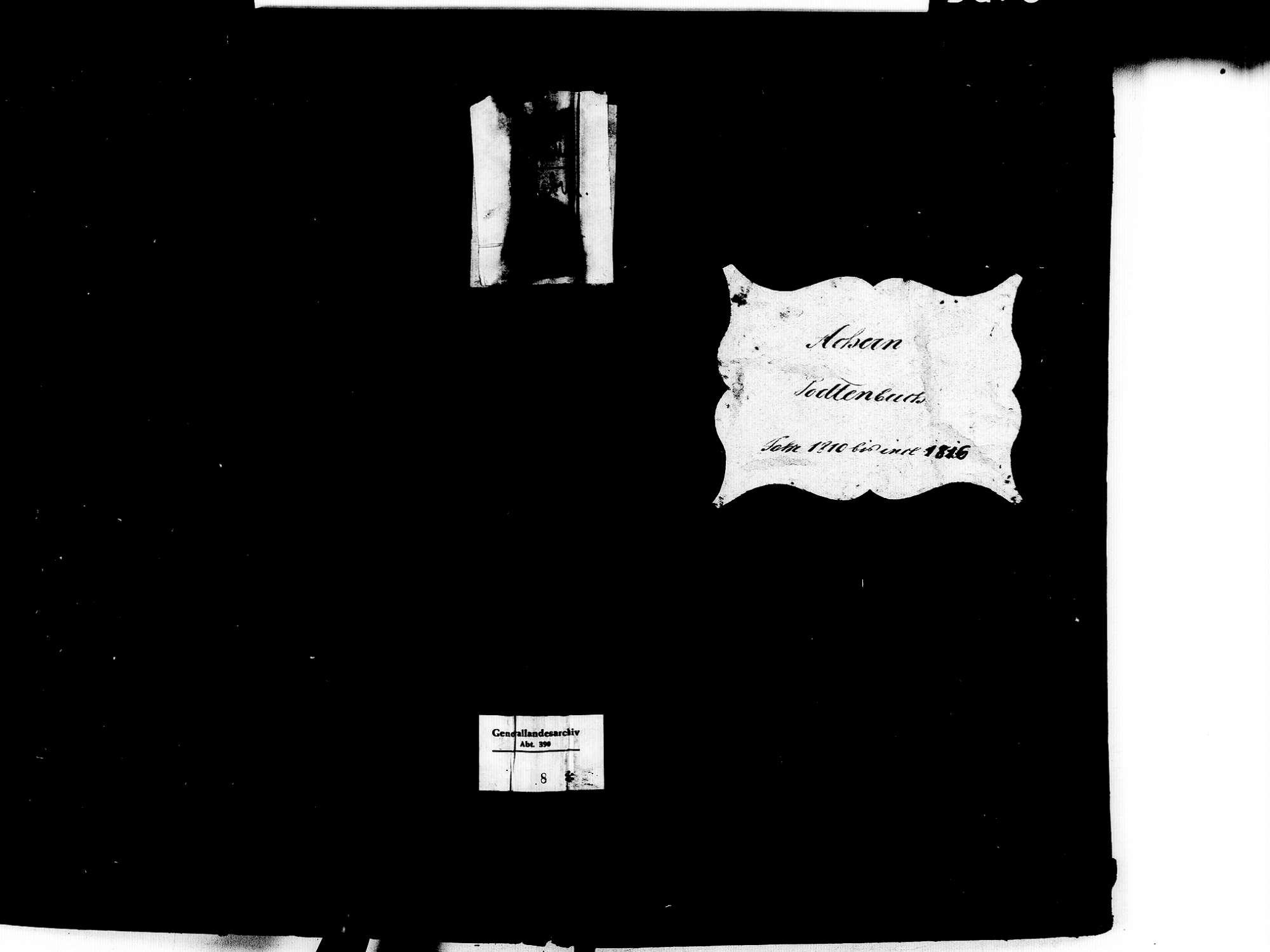 Achern OG; Katholische Gemeinde: Sterbebuch 1810-1816, Bild 1