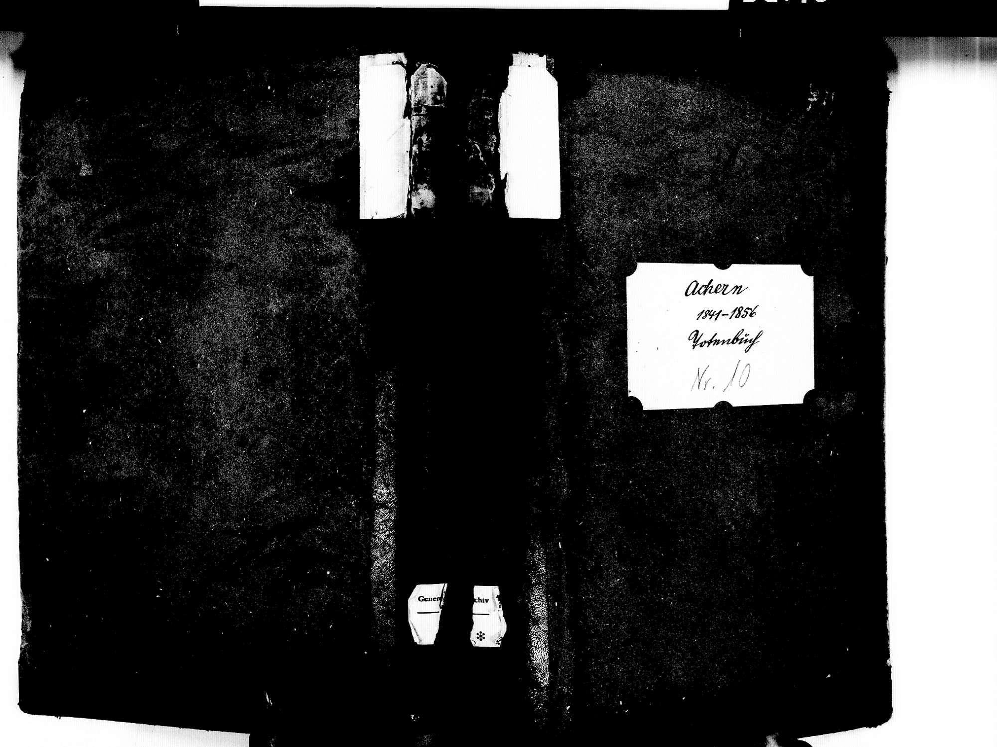 Achern OG; Katholische Gemeinde: Sterbebuch 1841-1856, Bild 1