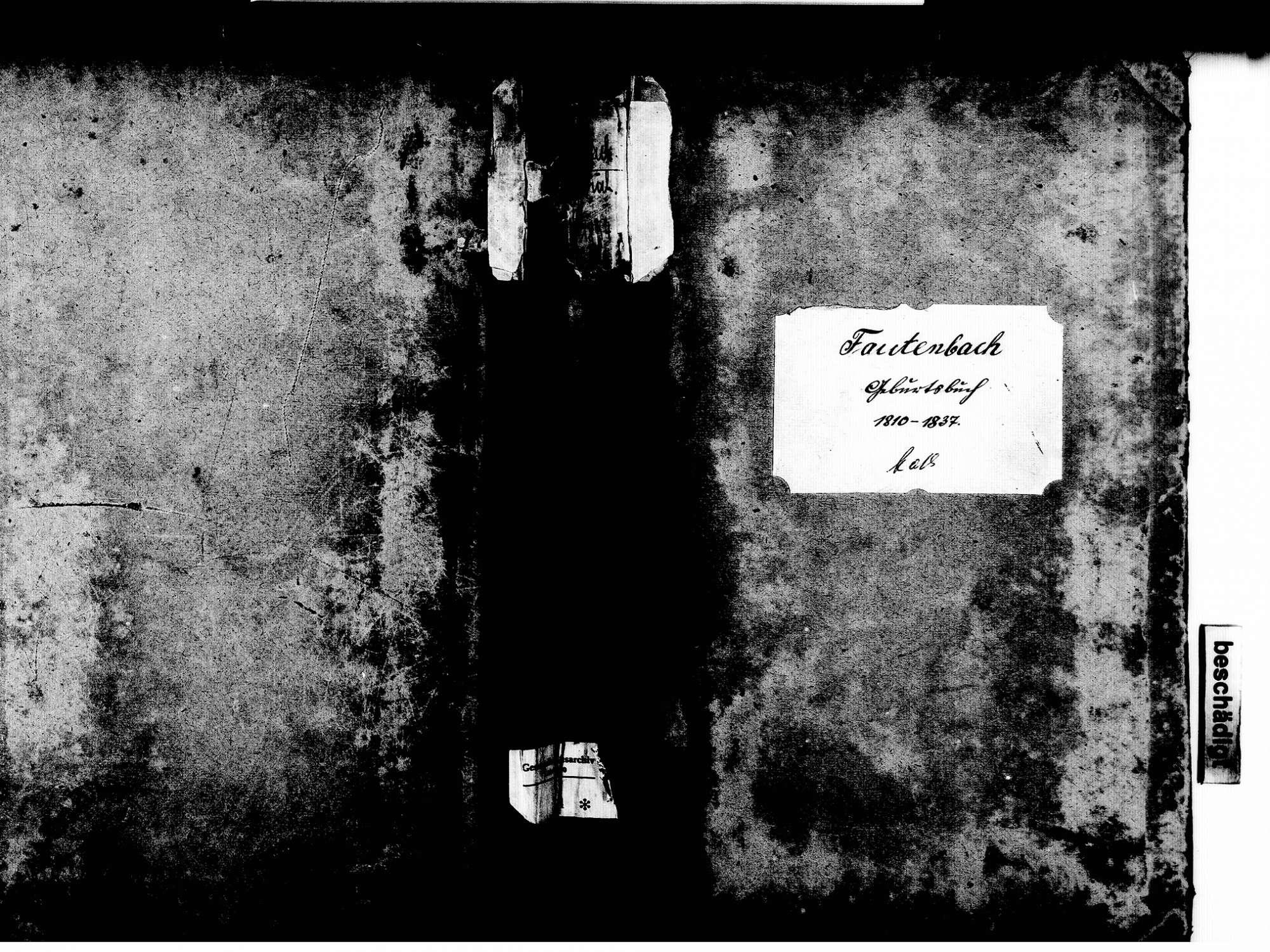 Fautenbach, Achern OG; Katholische Gemeinde: Geburtenbuch 1810-1837, Bild 1