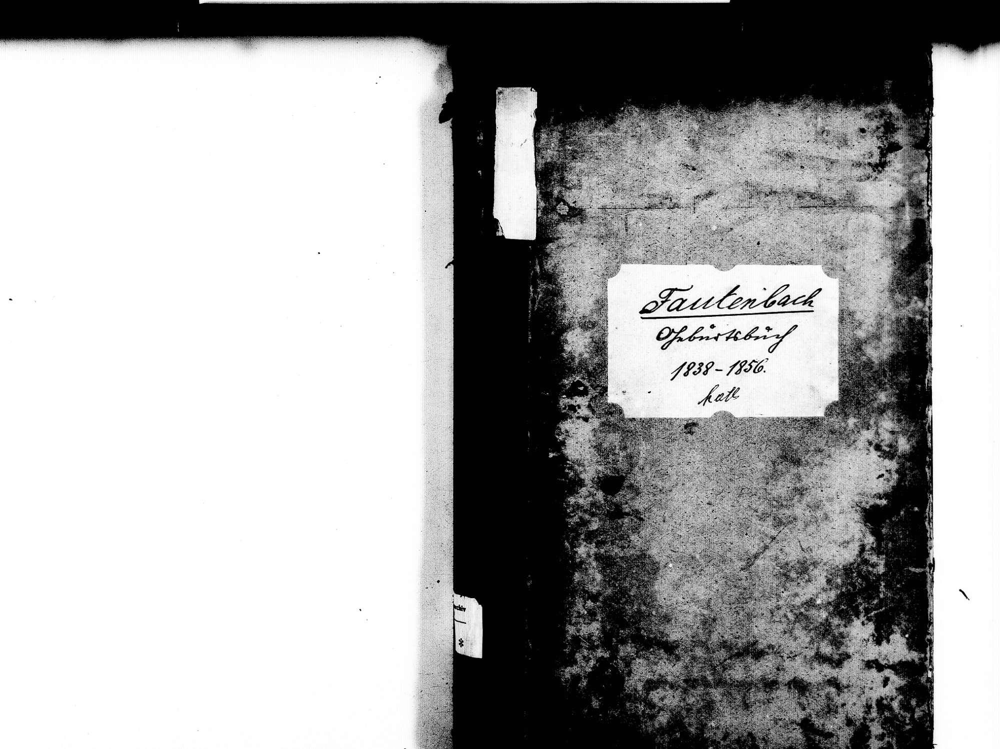 Fautenbach, Achern OG; Katholische Gemeinde: Geburtenbuch 1838-1856, Bild 2