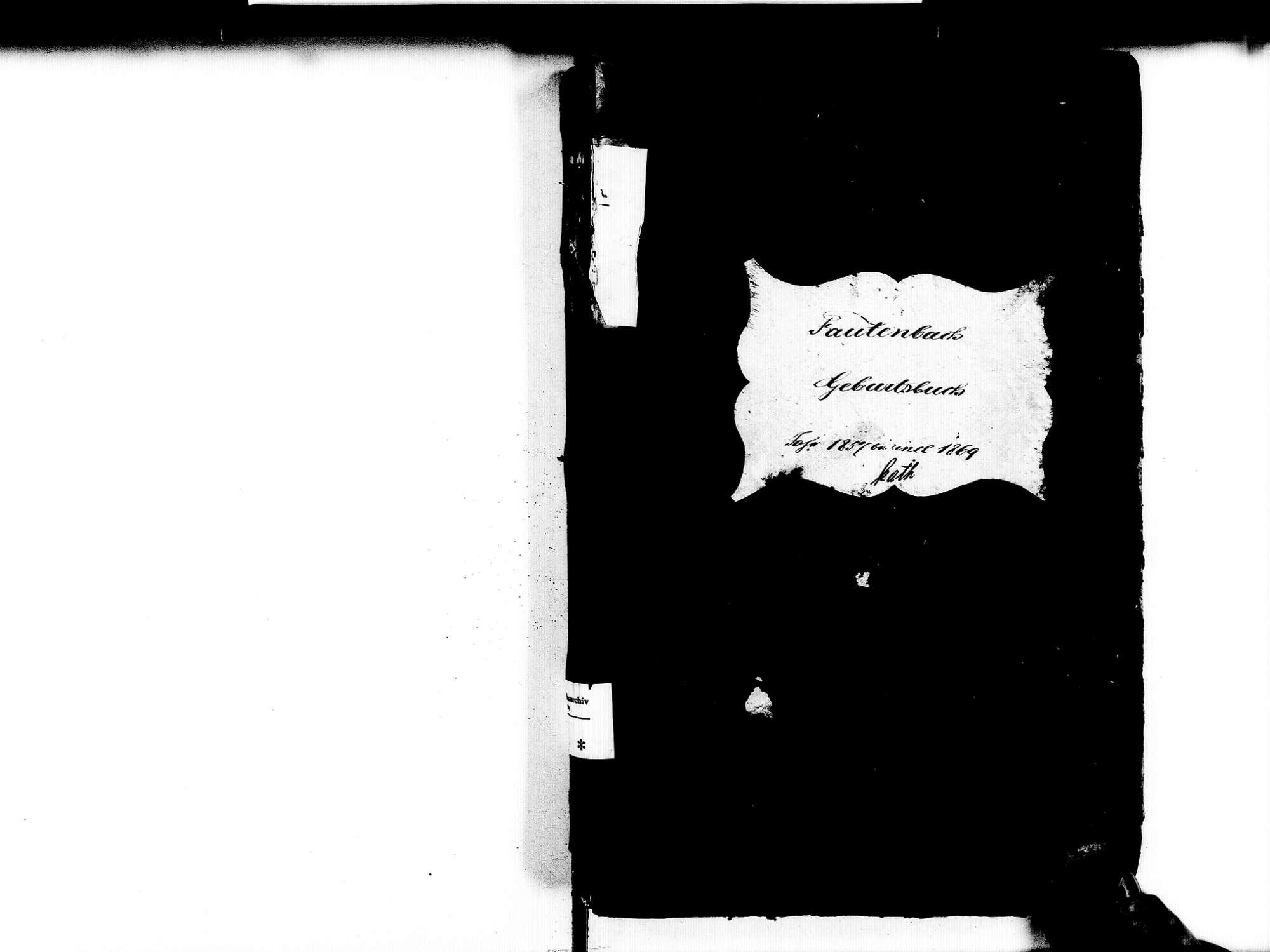 Fautenbach, Achern OG; Katholische Gemeinde: Geburtenbuch 1857-1869, Bild 2