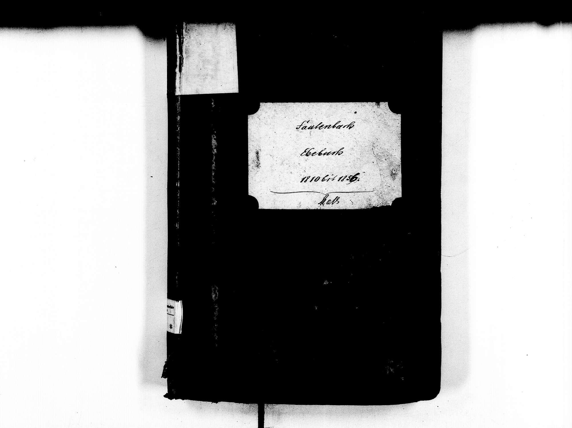 Fautenbach, Achern OG; Katholische Gemeinde: Heiratsbuch 1810-1856, Bild 2