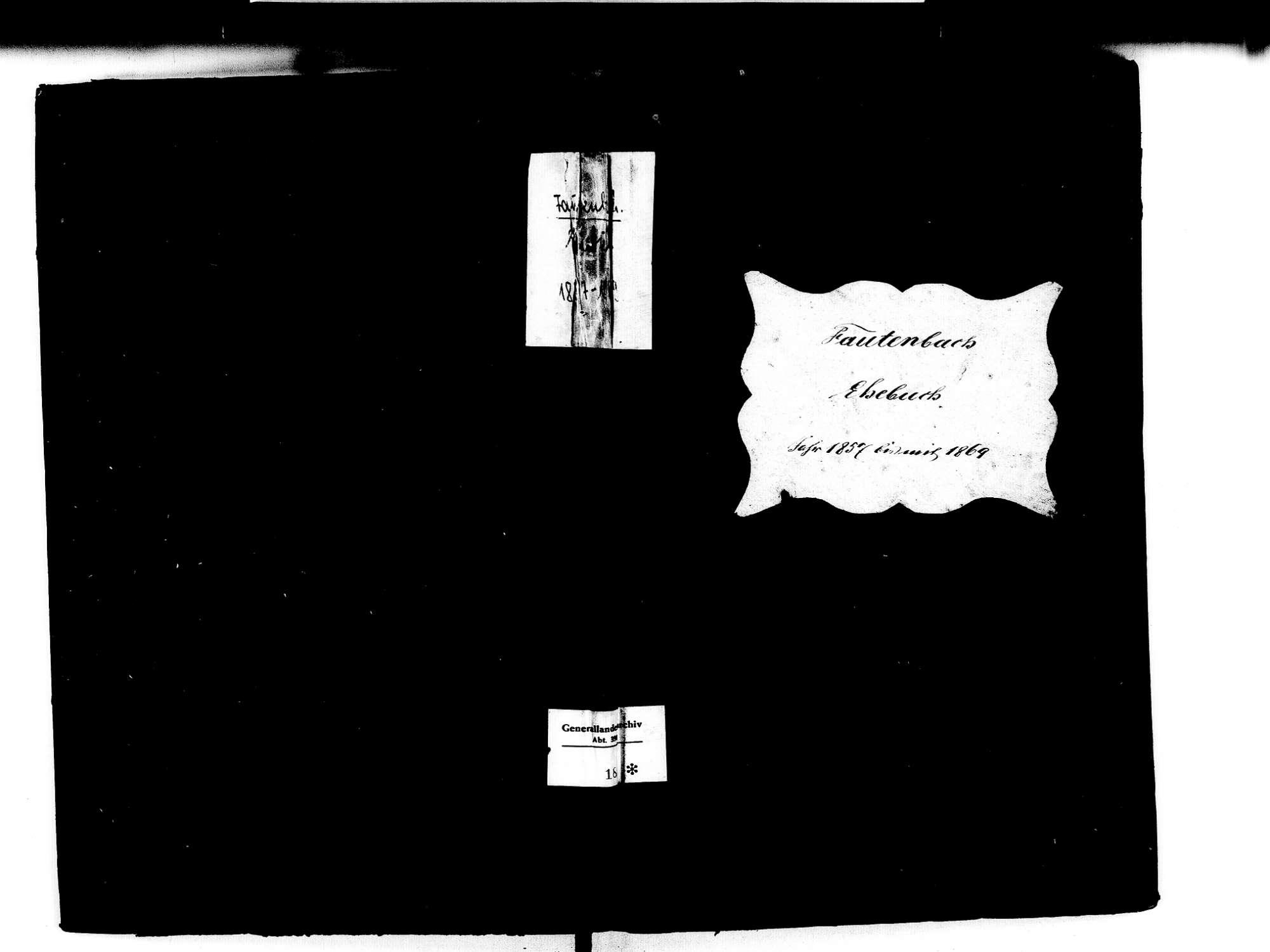 Fautenbach, Achern OG; Katholische Gemeinde: Heiratsbuch 1857-1869, Bild 1