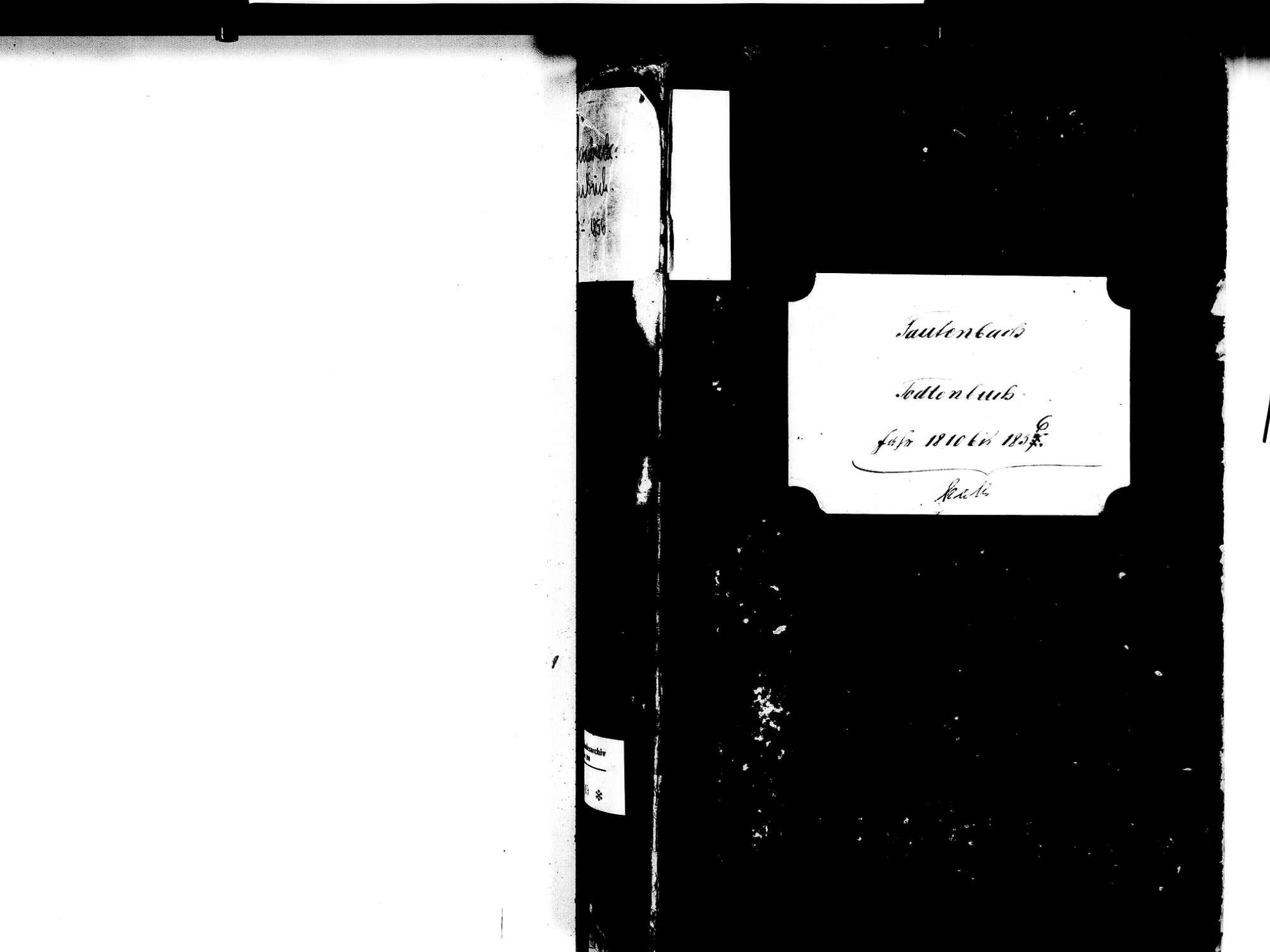 Fautenbach, Achern OG; Katholische Gemeinde: Sterbebuch 1810-1856, Bild 2