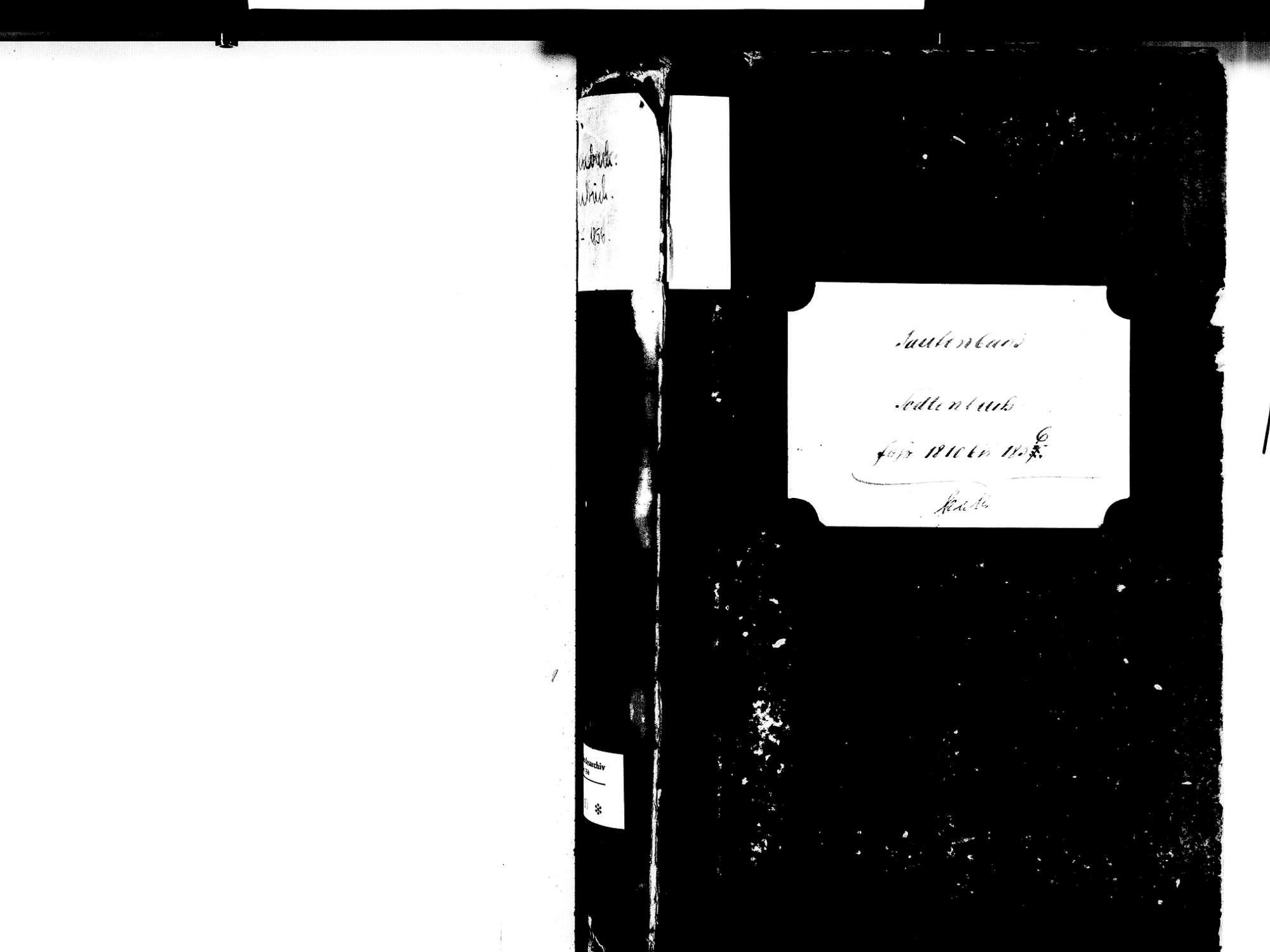Fautenbach, Achern OG; Katholische Gemeinde: Sterbebuch 1810-1856, Bild 3